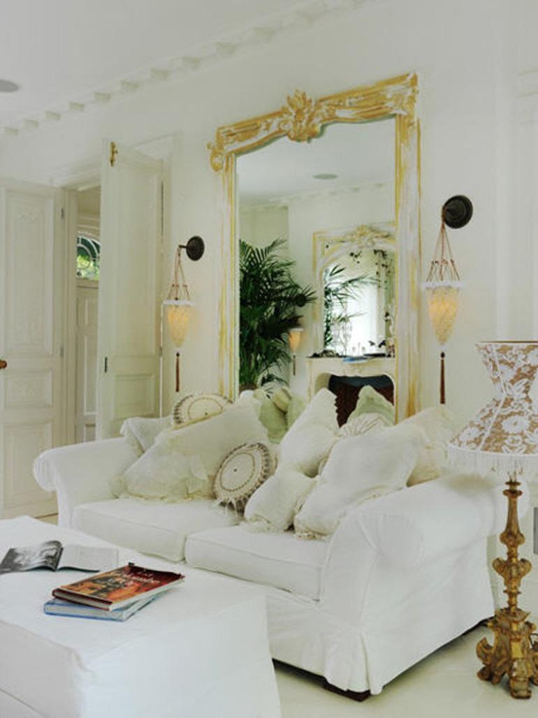 Decorar con blanco para una casa con glamour decoraci n - Casas estilo romantico ...