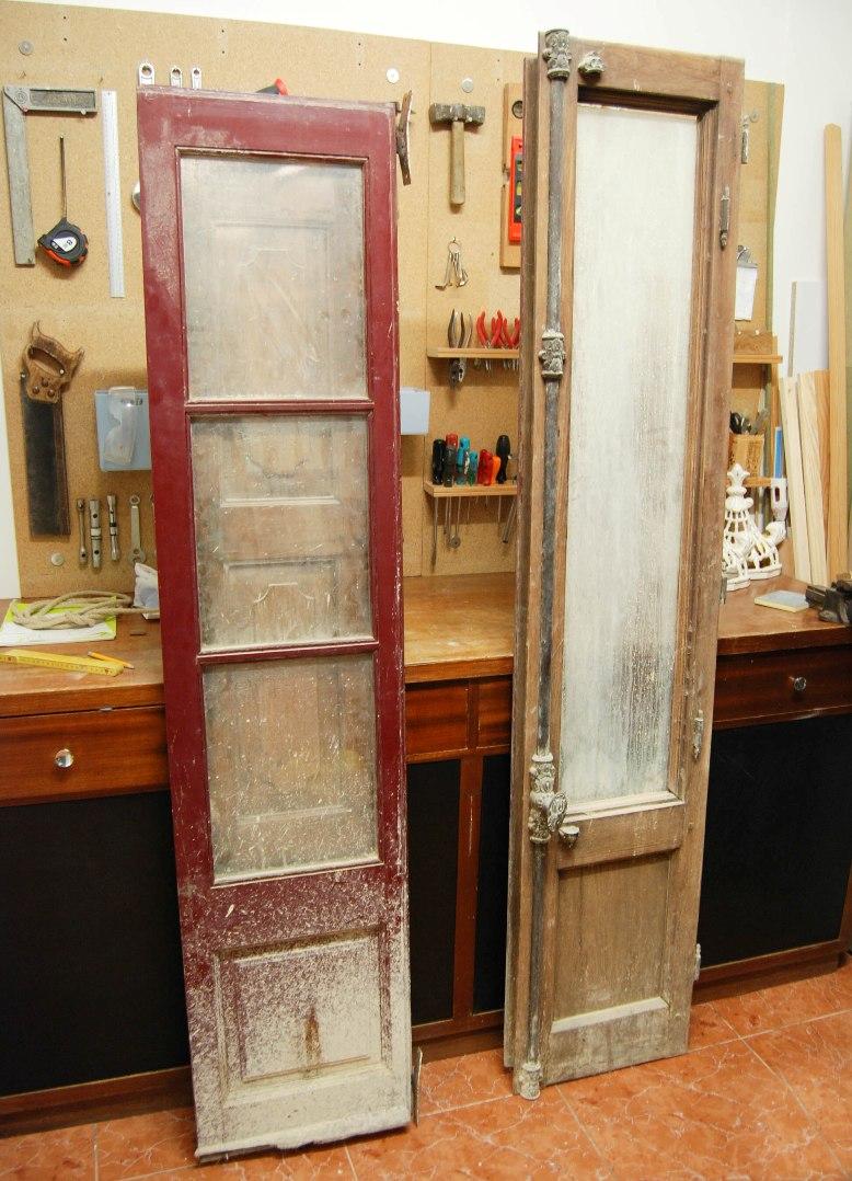 C mo hacer un espejo a partir de una puerta balconera o for Como hacer un espejo con marco de madera