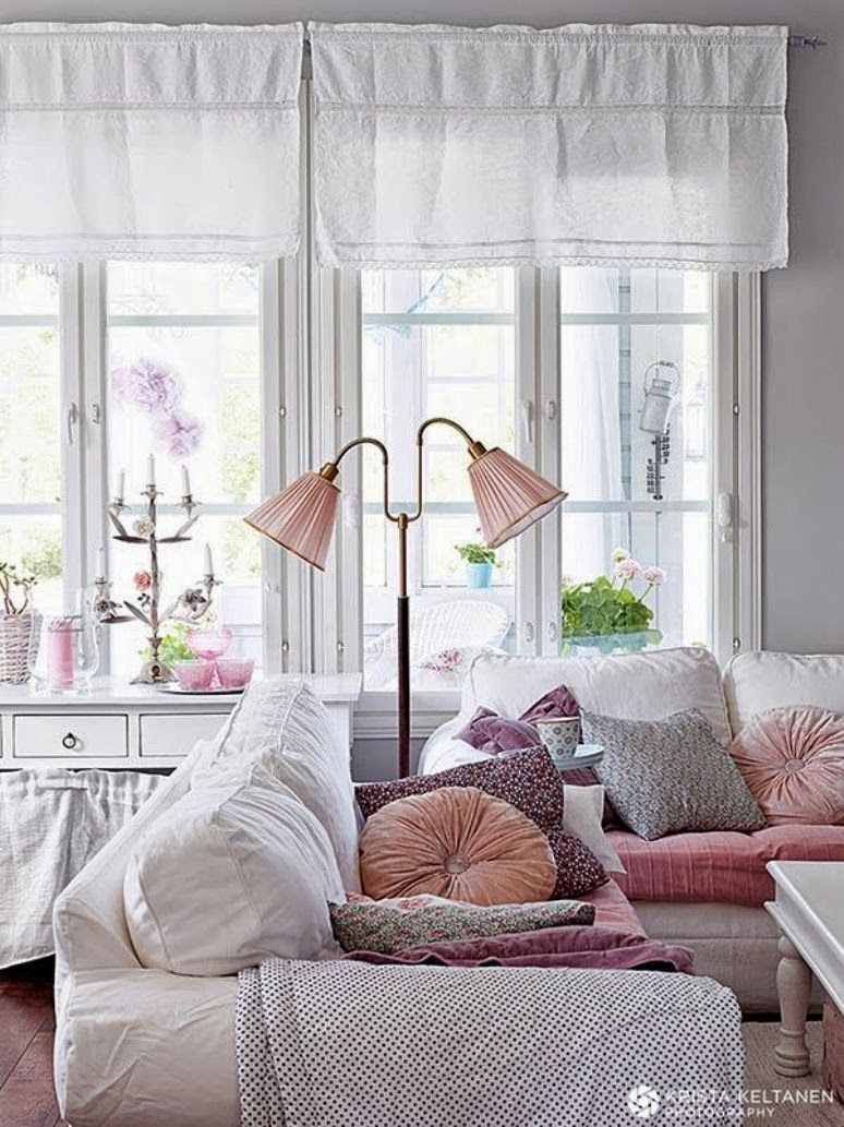 Ideas para cubrir un sof con estilo get the look for Decoration maison rose