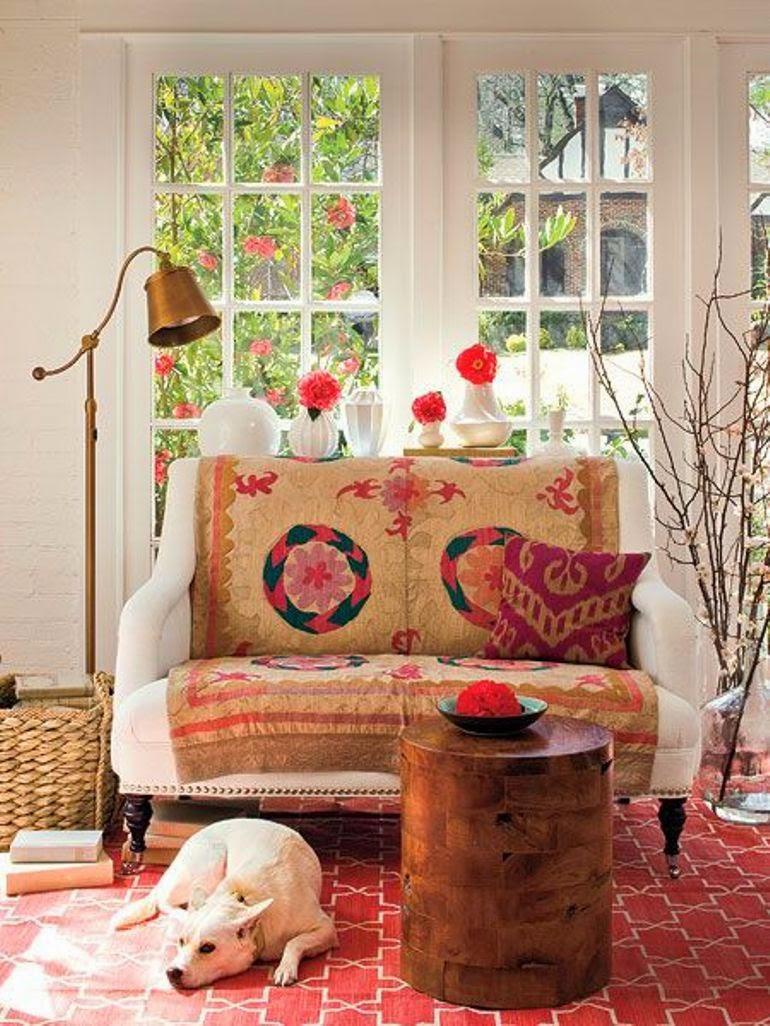 Ideas para cubrir un sof con estilo get the look - Telas para cubrir sofa ...