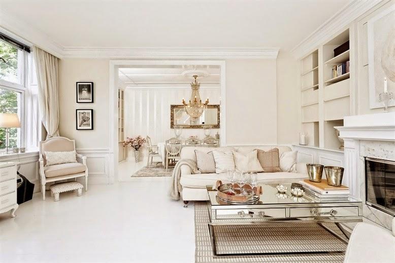 El blanco m s elegante decoraci n muy chic for Decoracion salon beige y blanco