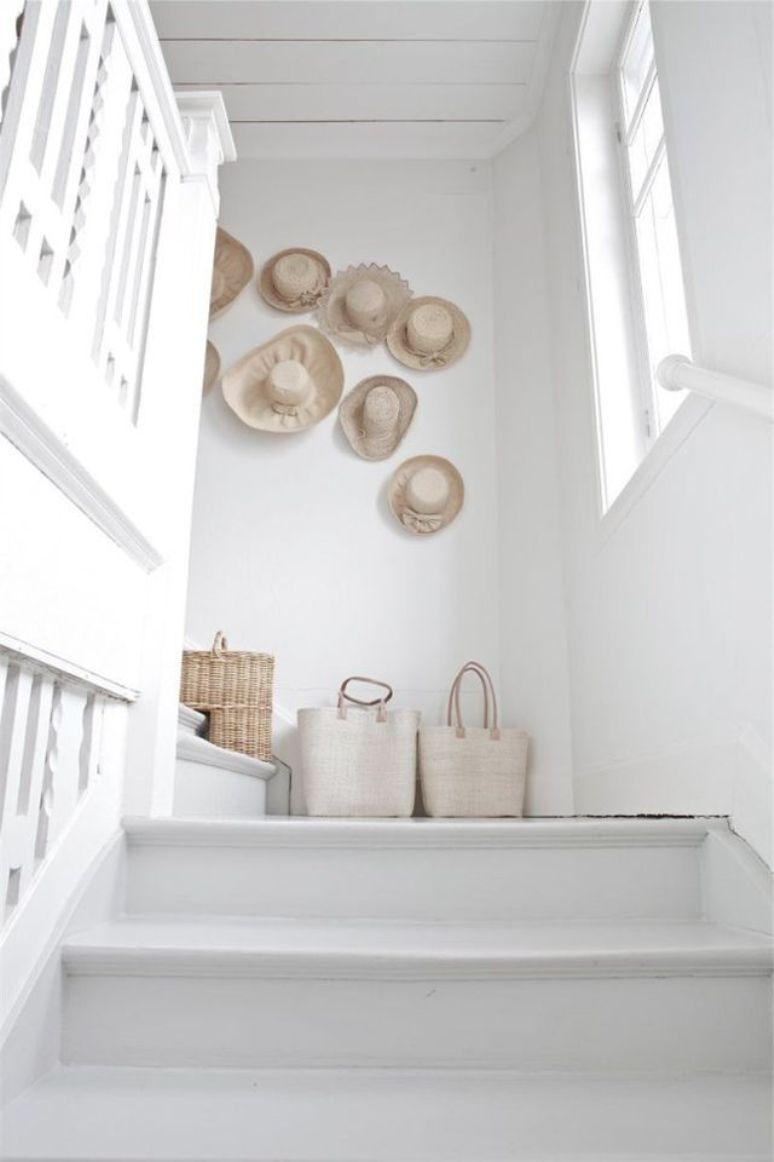 C mo decorar la pared de una escalera get the look for Como decorar la pared de una escalera