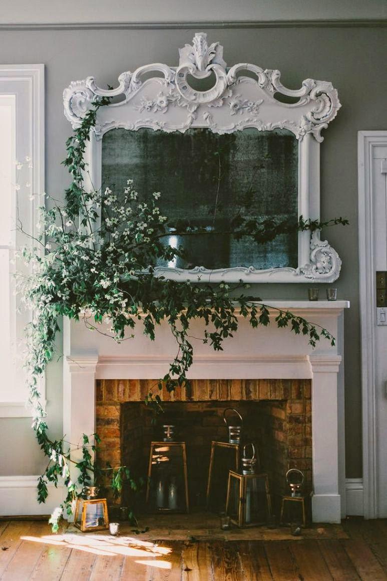 C mo decorar tu chimenea para esta primavera get the look - Chimeneas para decorar ...