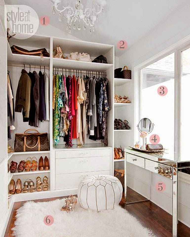 C mo organizar y decorar tu vestidor get the look for Como decorar un buro