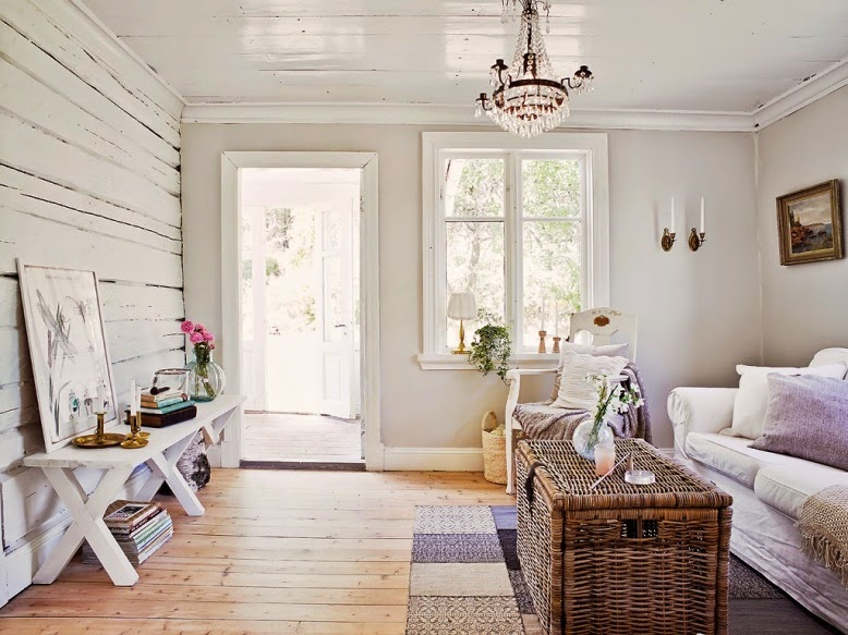 Una luminosa casa country chic donde relajarse get the look for Casa country chic