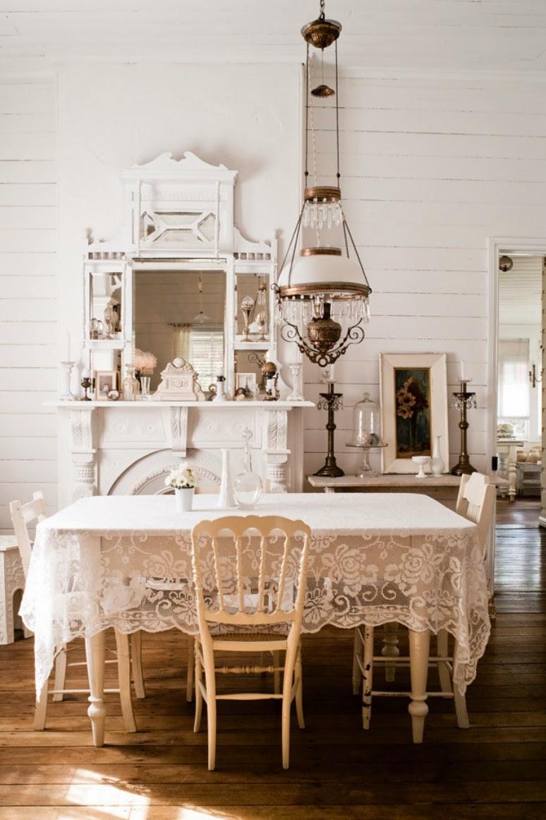 Una Casa Shabby Chic.Una Casa Shabby Chic En Blanco Get The Look