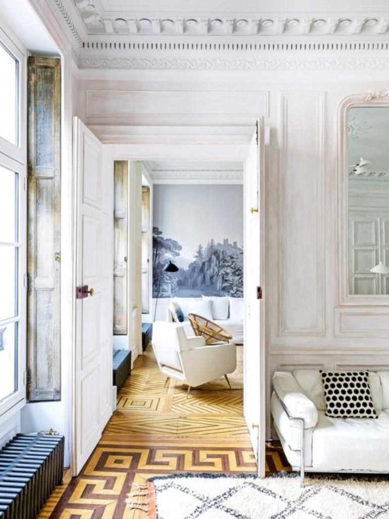 un elegante apartamento de vacaciones en par s decoraci n muy chic. Black Bedroom Furniture Sets. Home Design Ideas