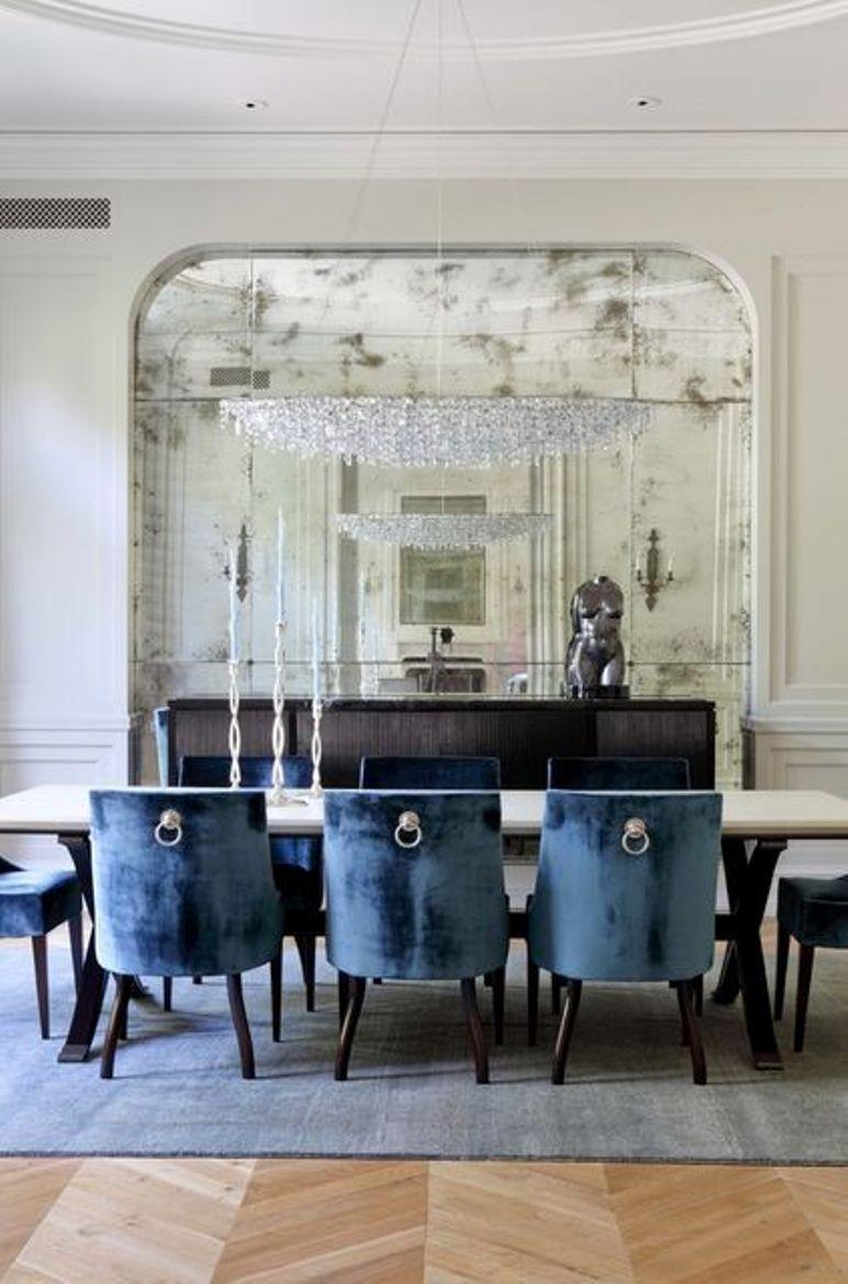 decorar el saln con grandes espejos
