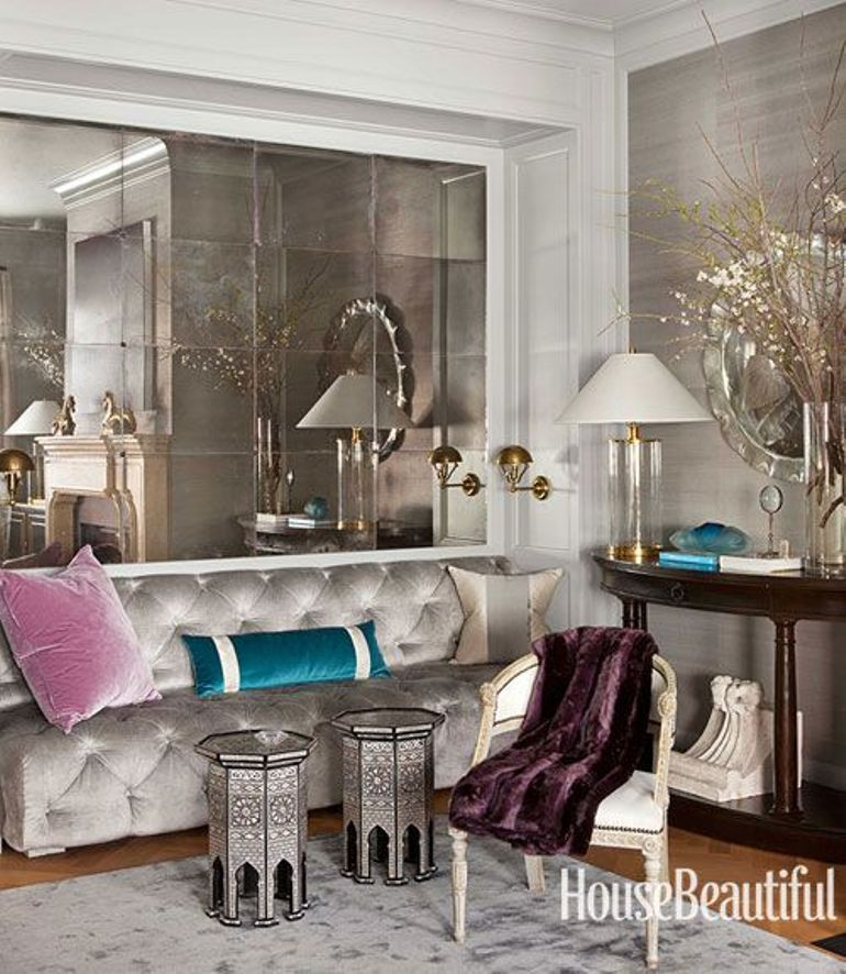 Decorar El Sal N Con Grandes Espejos Get The Look