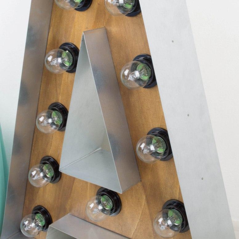 C mo hacer letras luminosas de madera y hierro en el - Letras luminosas decoracion ...