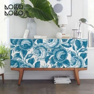 Estampado floral azul