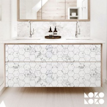 Azulejo blanco hexagonal mini
