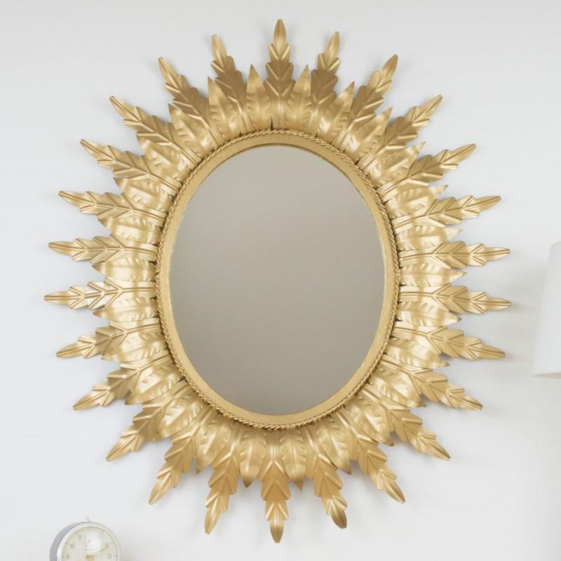 Espejo sol ovalado vintage espejos objetos y decoraci n for Espejo ovalado