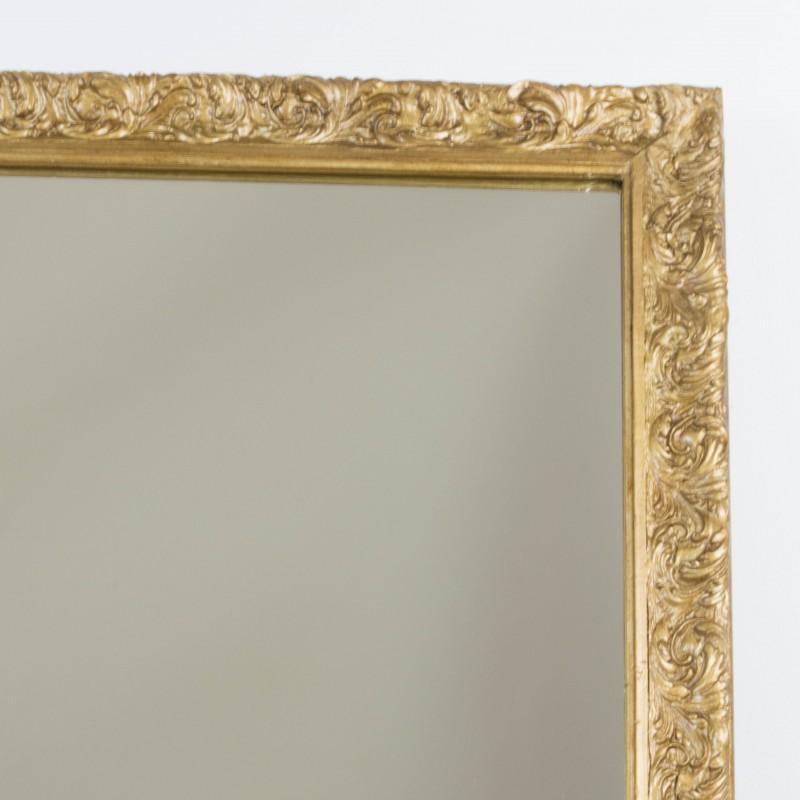 Espejo dorado a partir de antiguo marco espejos for Espejo marco dorado
