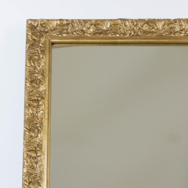 Espejo dorado a partir de antiguo marco espejos for Espejos antiguos grandes