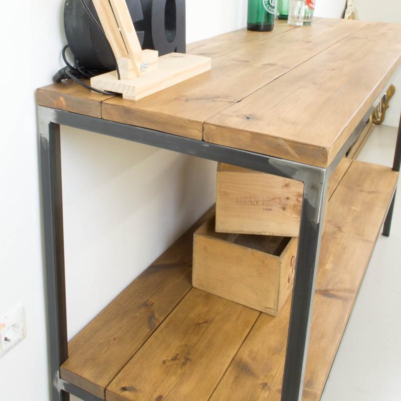 Mueble auxiliar de cocina de hierro y madera  Auxiliar  Muebles