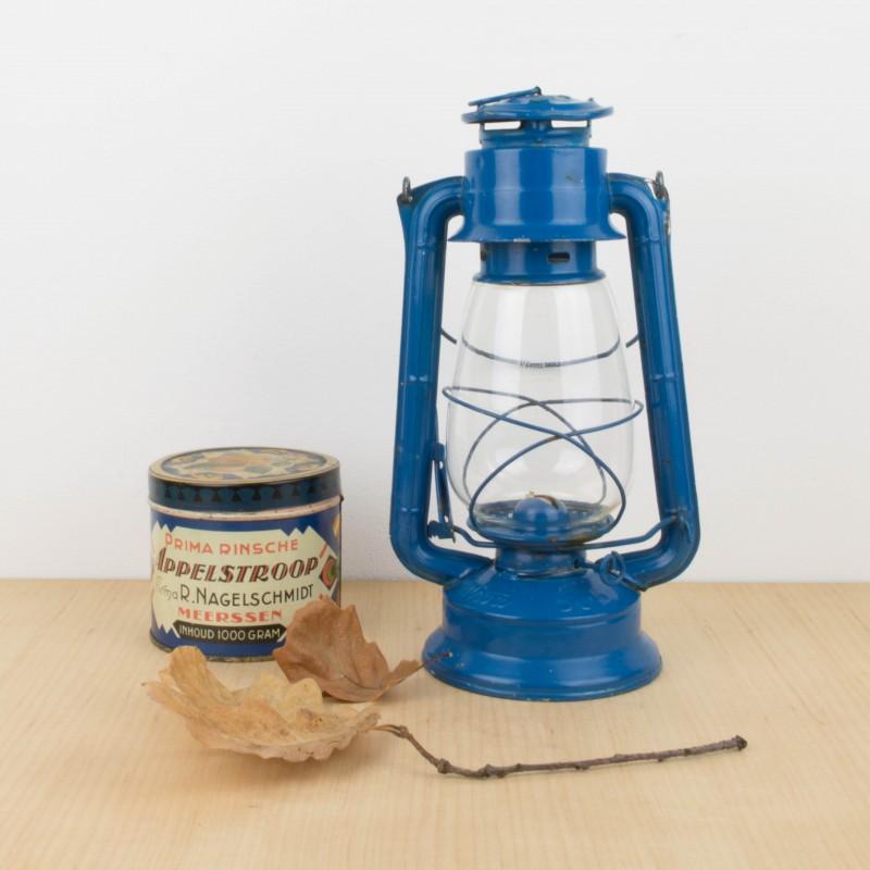 Farol o l mpara de parafina azul otros objetos y - Lampara de parafina ...