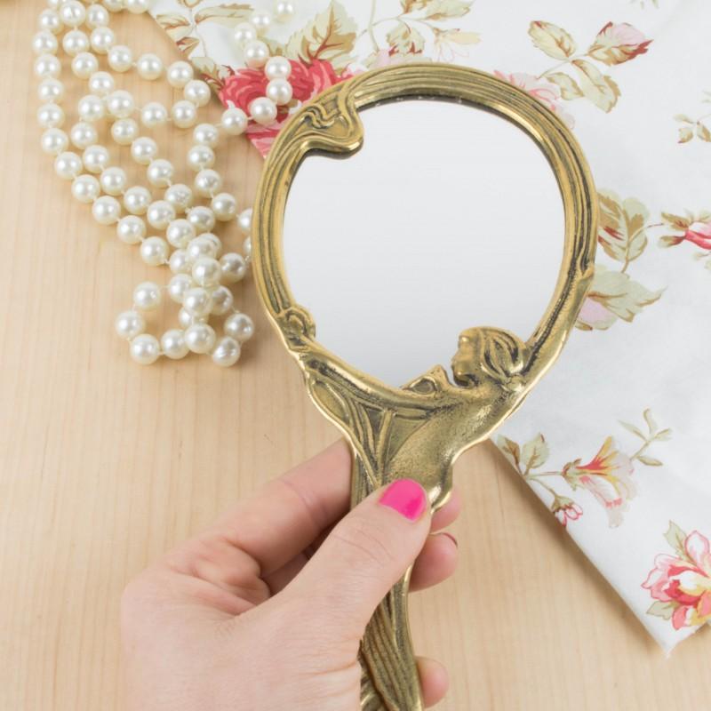 Espejo de mano estilo art nouveau espejos objetos y for Decoracion art nouveau