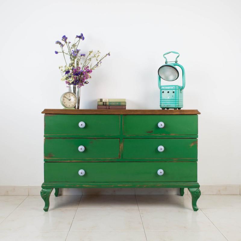C moda elvira de 5 cajones c modas muebles - Como restaurar una comoda ...