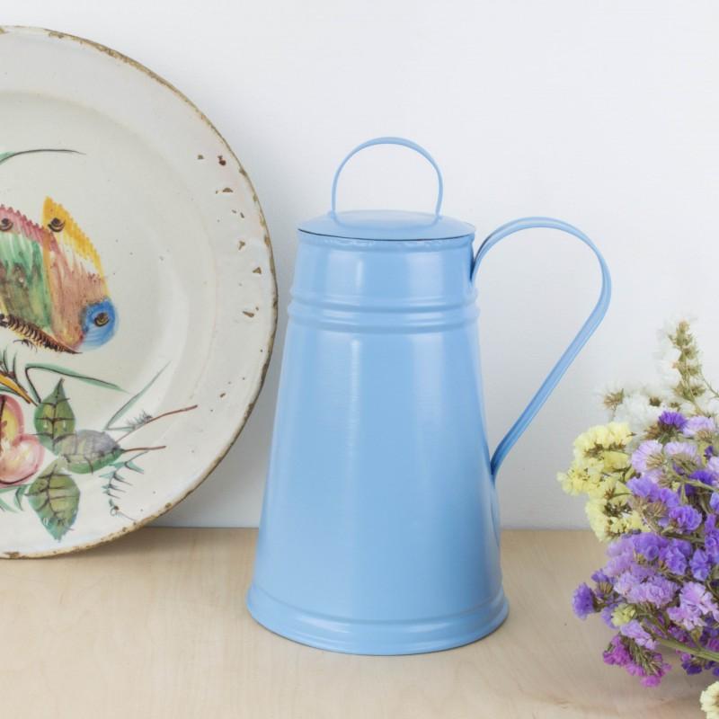 Jarra de metal azul otros objetos y decoraci n for Objetos de decoracion online