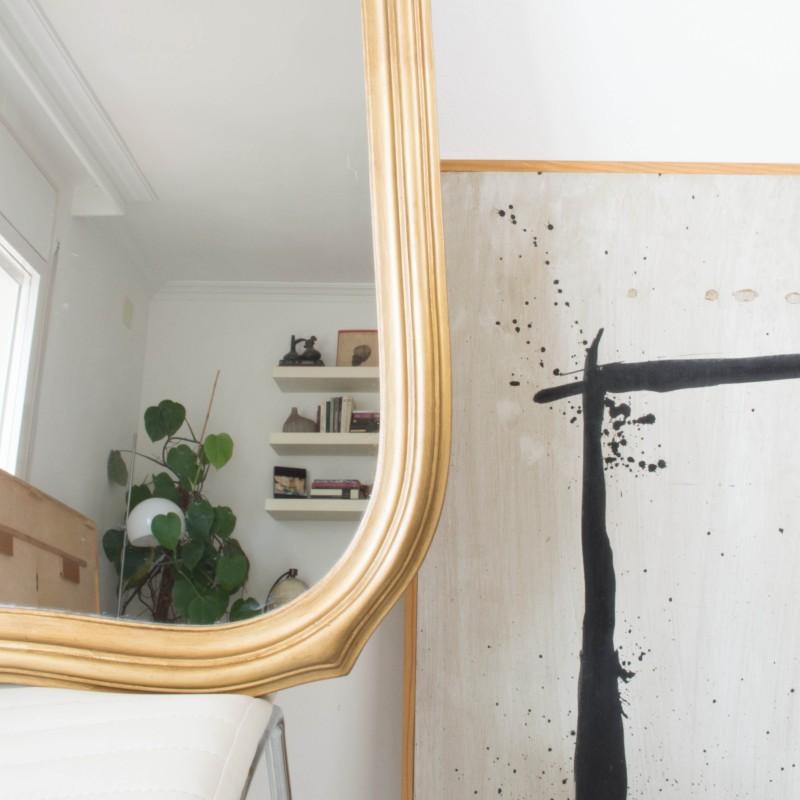 Espejo isabelino dorado envejecido espejos objetos y for Espejo envejecido