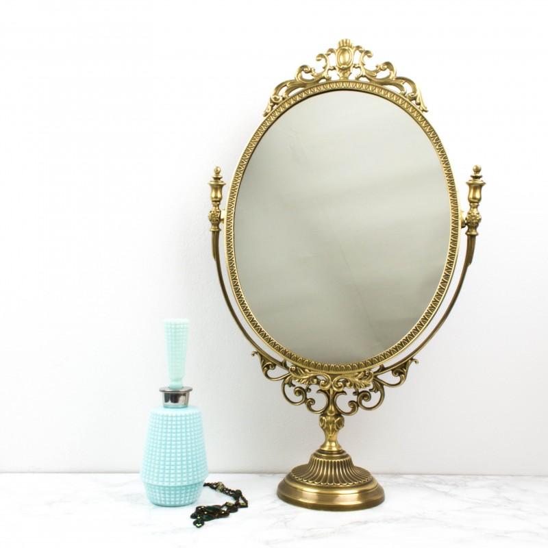 espejo para tocador dorado espejos objetos y decoraci n