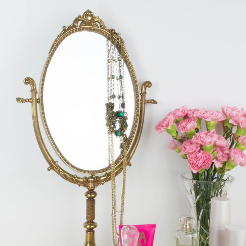 espejo de tocador de bronce espejos objetos y decoraci n On espejos para tocador