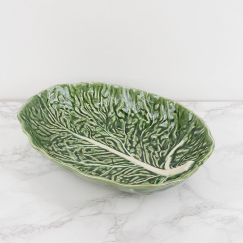 Fuente portuguesa con forma de hoja de col platos y Ceramica portuguesa online