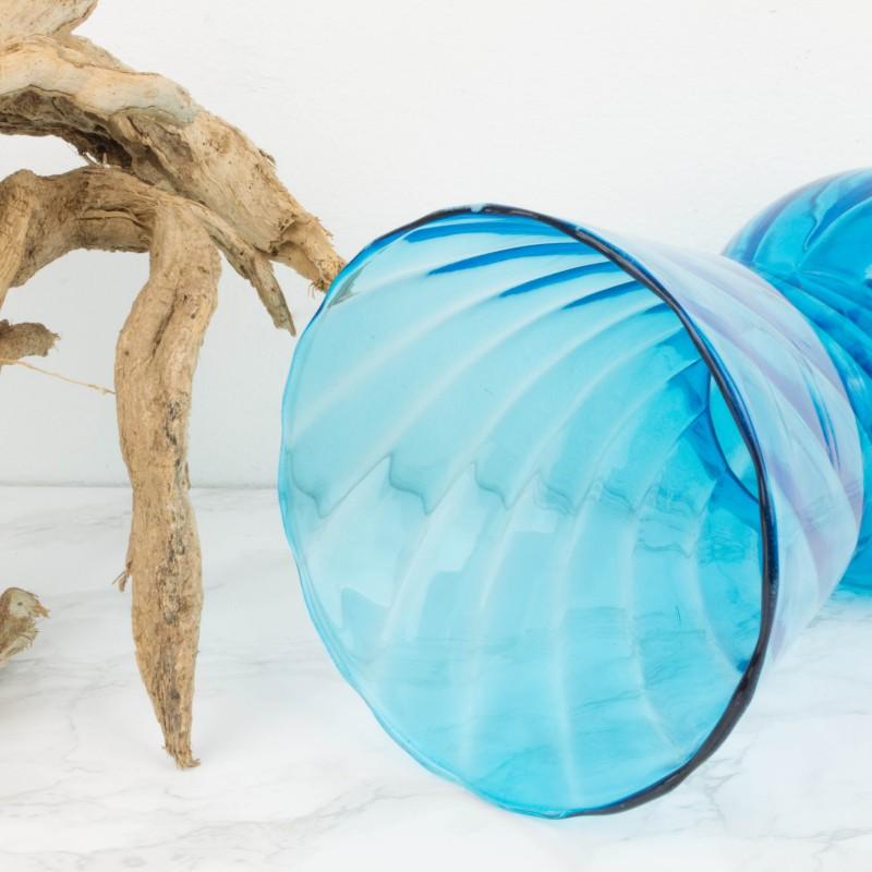 Jarr n de cristal azul jarrones objetos y decoraci n for Jarron cristal decoracion