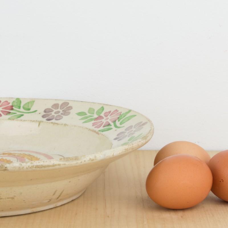 Plato o fuente antigua con gallo platos y vajillas cocina for Cocina 1 plato