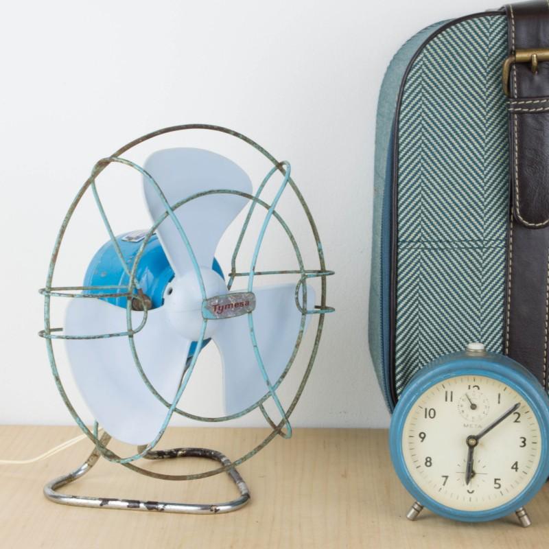 Ventilador antiguo azul estilo industrial otros for Objetos decoracion industrial