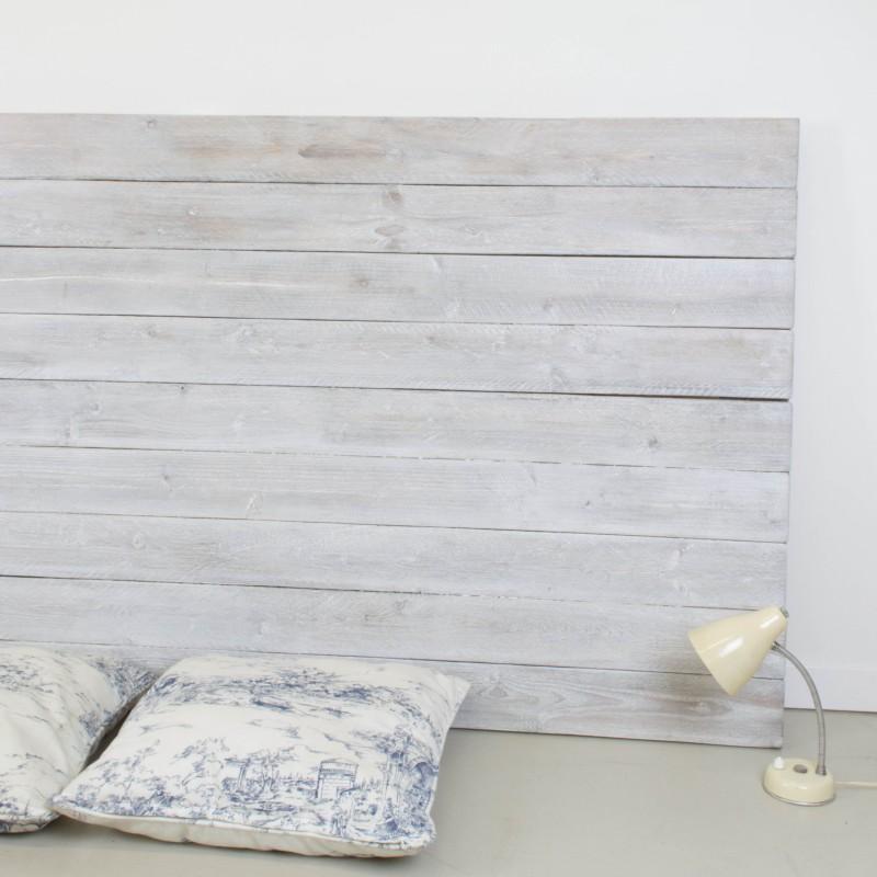 Cabecero de madera r stica acabado envejecido blanco - Muebles blanco envejecido ...
