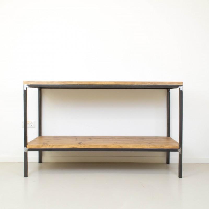 Mueble auxiliar de cocina de hierro y madera auxiliar - Mueble auxiliar de cocina ...