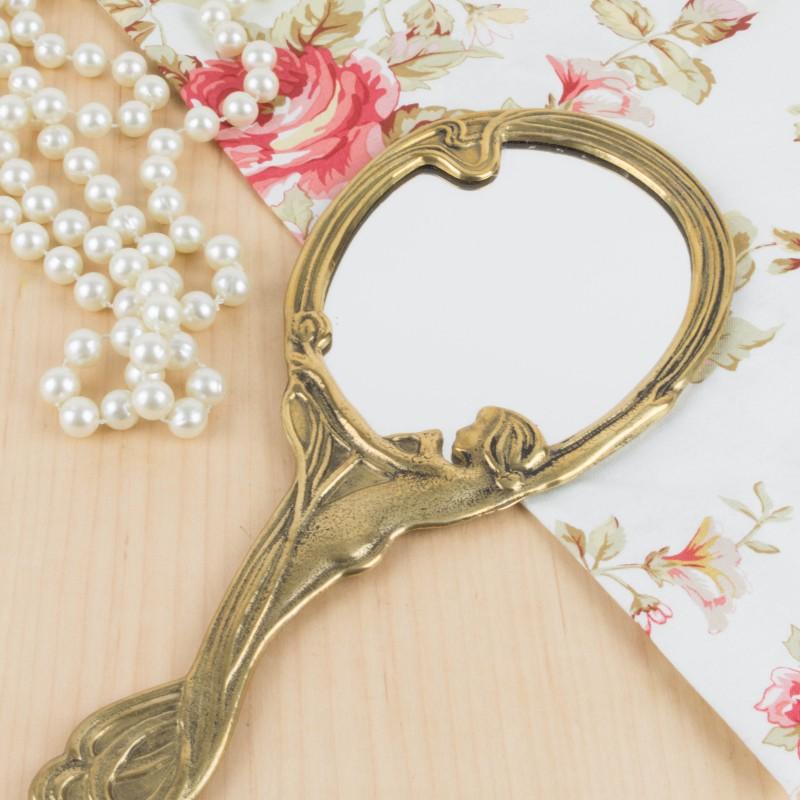 Espejo de mano estilo art nouveau espejos objetos y for Espejos redondos en la pared